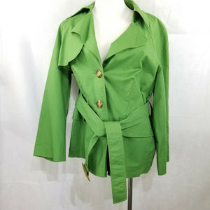 Rafaella Jackets & Coats - Rafaella Short Belted Trench Jacket Green 18W